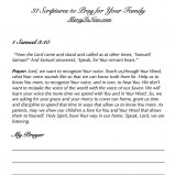 31 Scriptures to Pray for Your Family SAMPLE