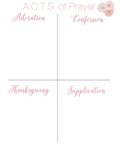 ACTS of Prayer Squares