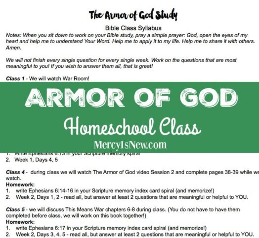 Armor of God Homeschool Class