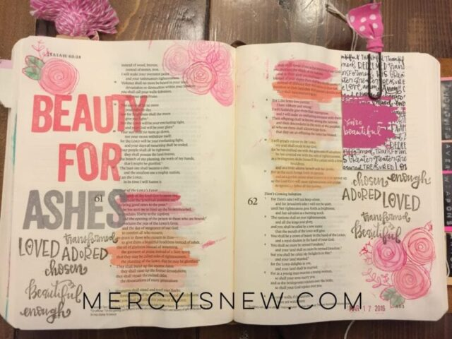 Beauty for Ashes Bible Journaling