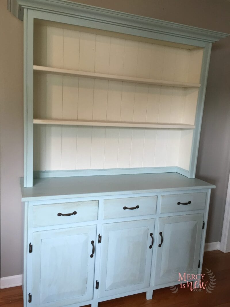 Chalk Paint Hutch with Handles