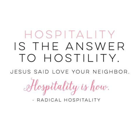 Hospitality is the answer