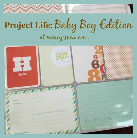 Project Life Tuesday: Baby Boy edition!!