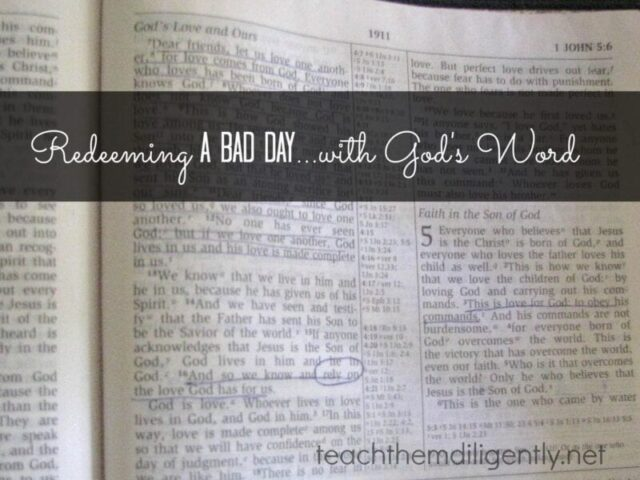 Redeeming a bad day…