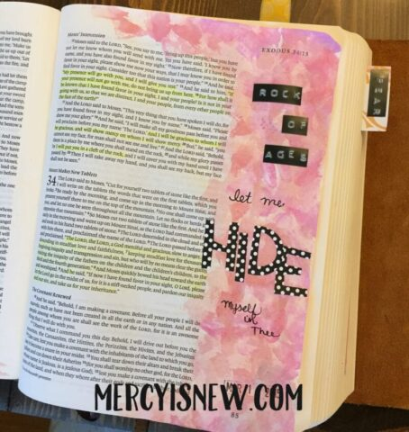Rock of Ages Journaling Bible Entry 5