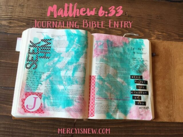 Seek First Journaling Bible Entry