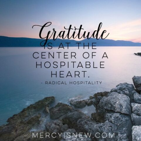 gratitude is at the center