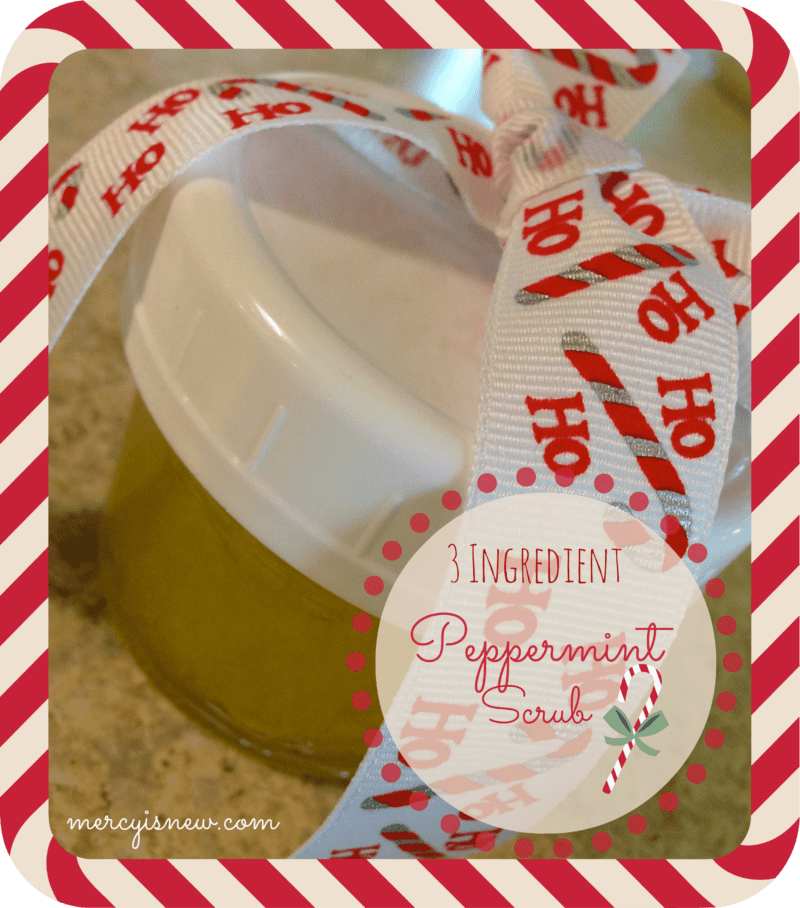 3 Ingredient Peppermint Scrub {with Essential Oils}