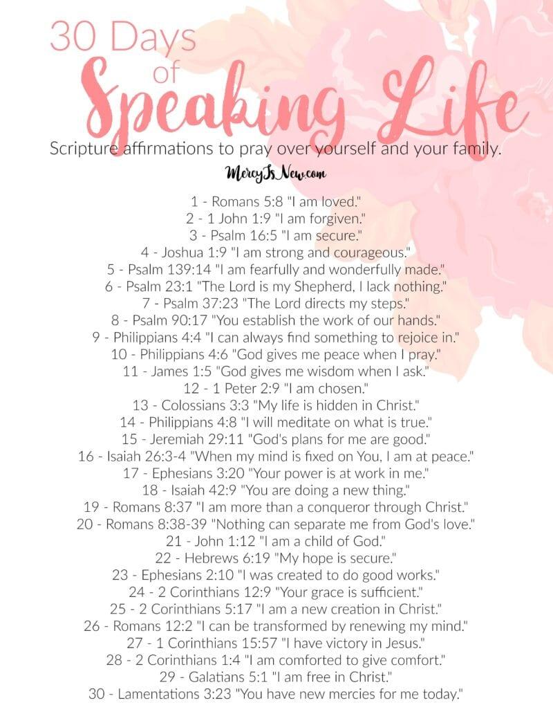 30 Days of Speaking Life