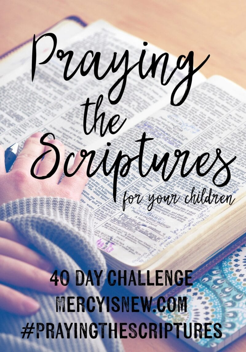40 Day Challenge: Praying the Scriptures for Your Children