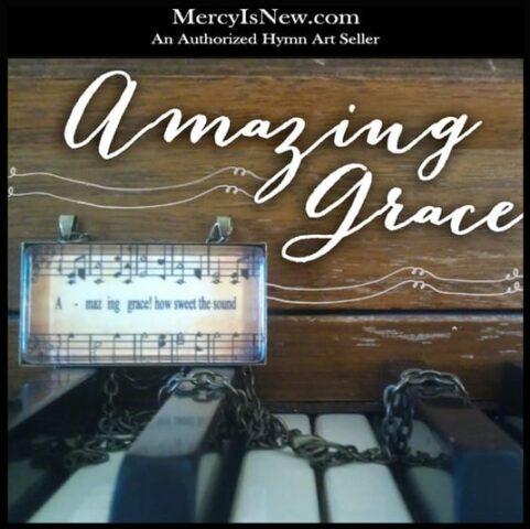 Amazing Grace Hymn Art Necklace 1