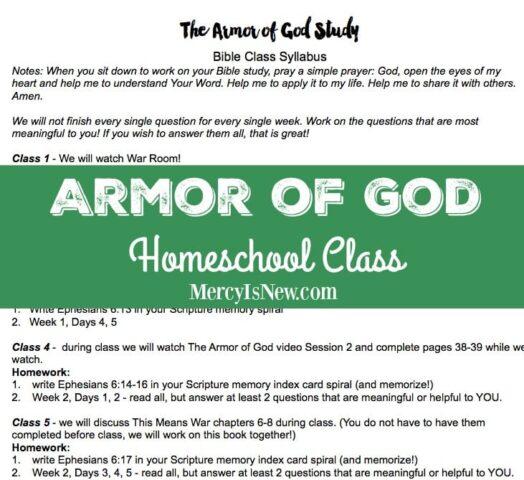 Armor of God Homeschool Class