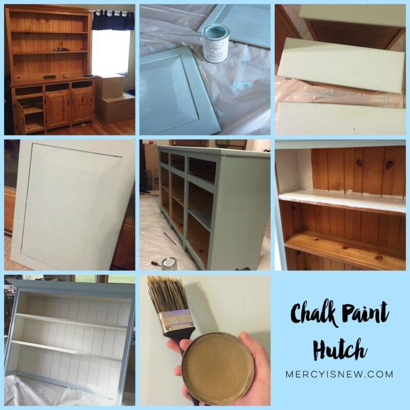 Chalk Paint Hutch collage