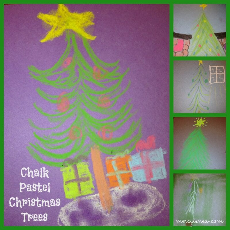 2 Christmas Chalk Pastel Projects