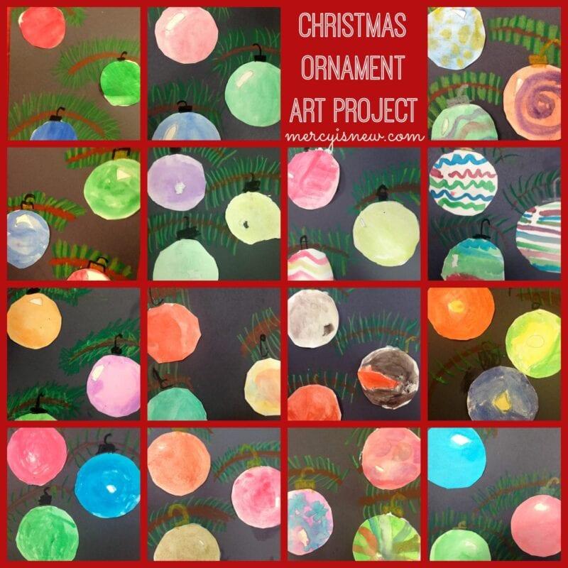 Christmas Ornament Art Project