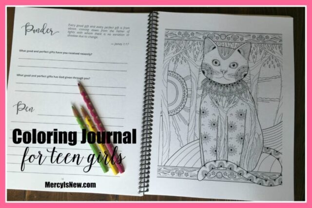 Coloring Journal for Teen Girls