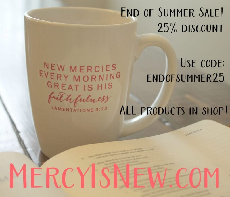 End of summer sale! Entire shop 25% off!