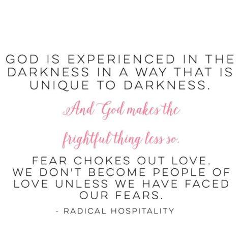 Fear chokes out love