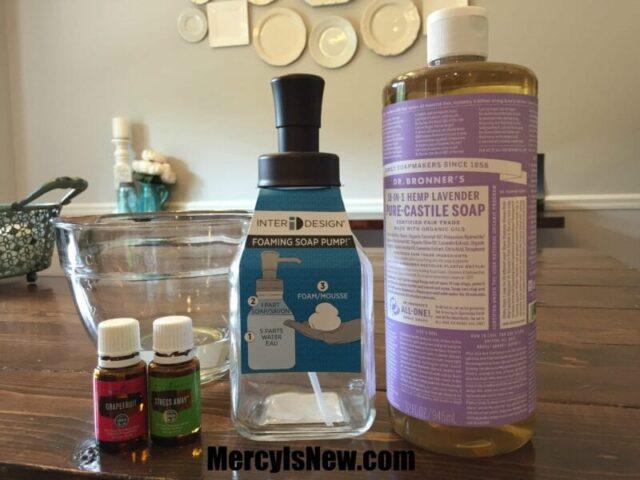 Homemade Body Wash ingredients