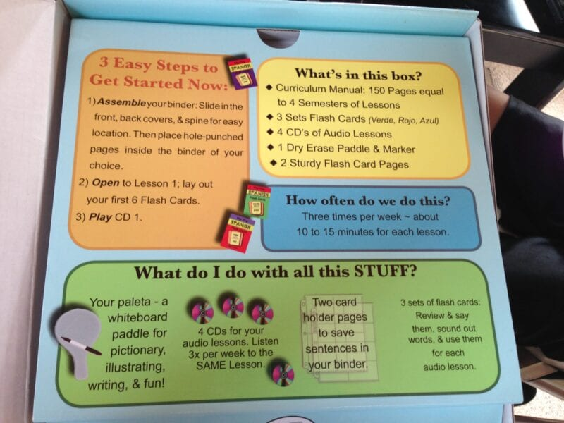 Flip Flop Learning {Spanish Curriculum Review}