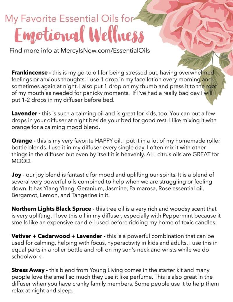 My Favorite Essential Oils for Emotional Wellness