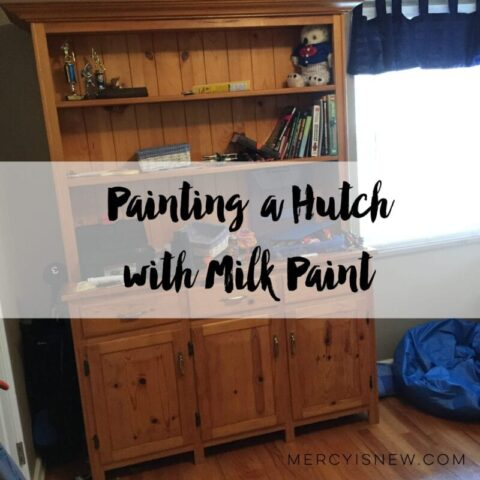 Painting a Hutch with Milk Paint