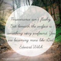 Perseverance in depression