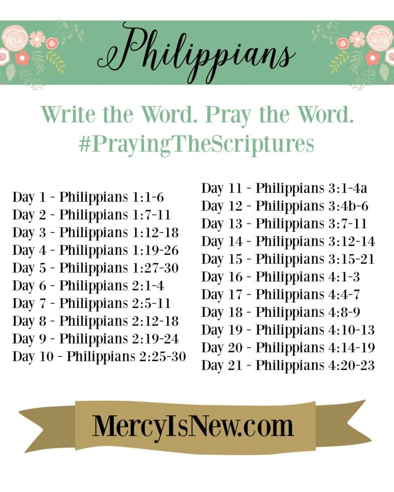 Philippians Write The Word