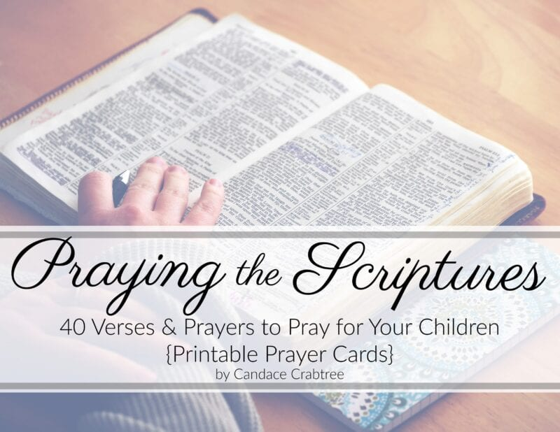 image regarding Prayer Printable identified as 40 Scriptures towards Pray for Your Little ones: Printable Prayer Playing cards