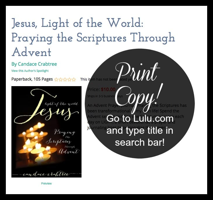 Jesus, Light of the World {PRINT edition}