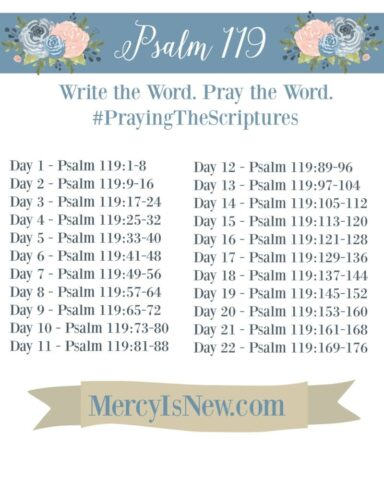 Psalm 119 Write the Word Pray the Word