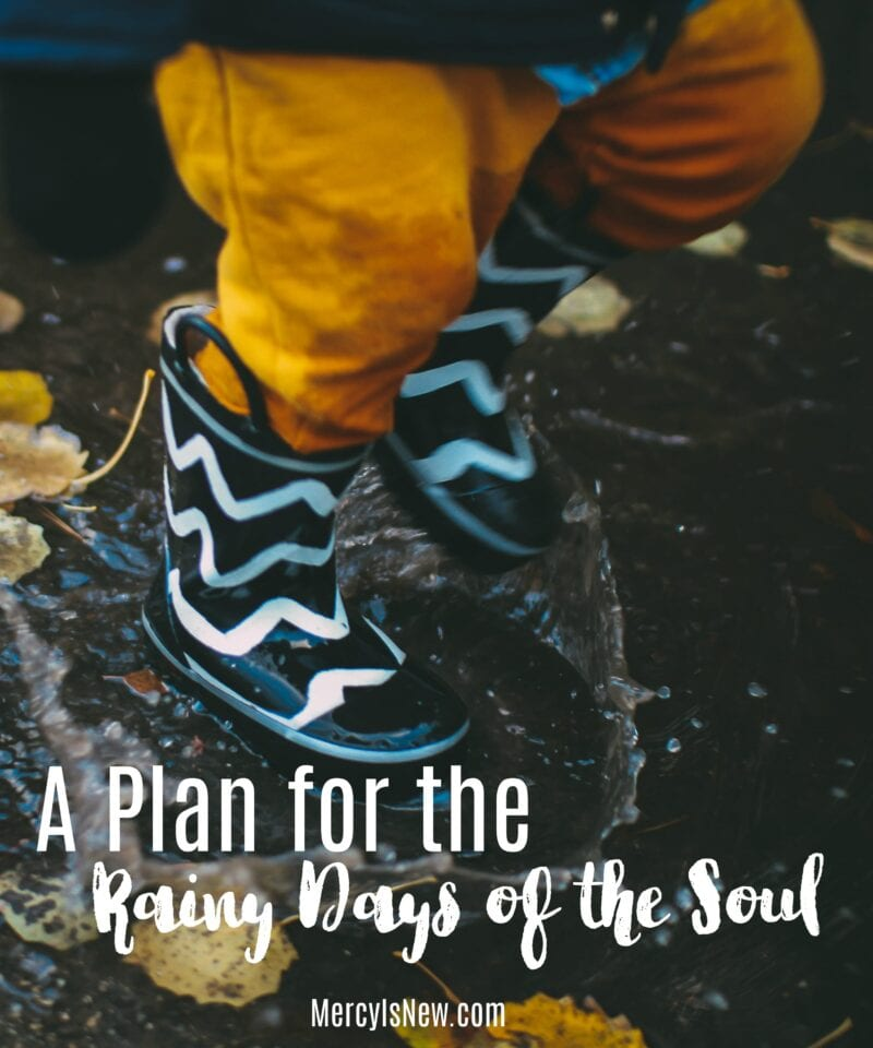 A Plan for the Rainy Days of the Soul