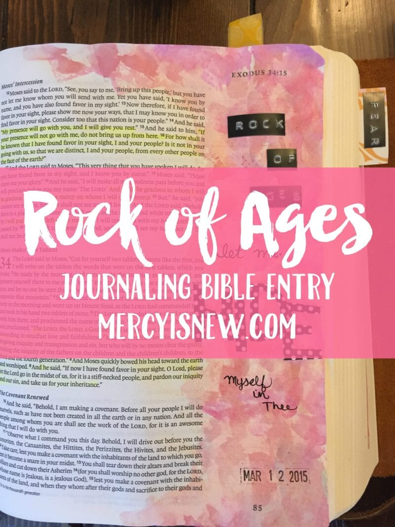 Rock of Ages Journaling Bible Entry
