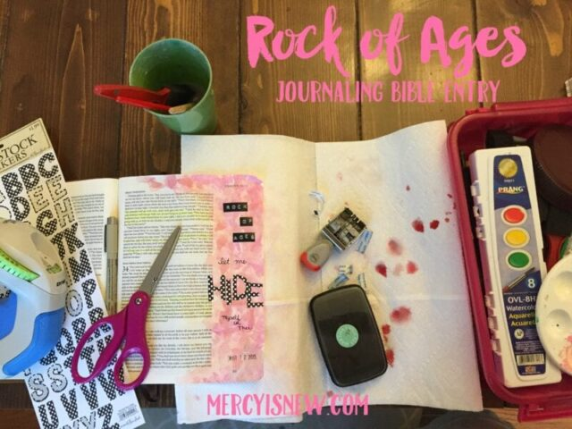 Rock of Ages Journaling Bible Entry 3