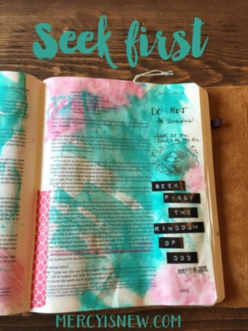 Seek First journaling bible