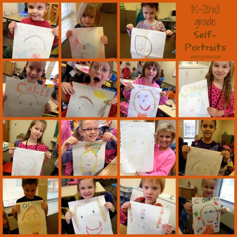 Self-Portraits with Elementary Kids