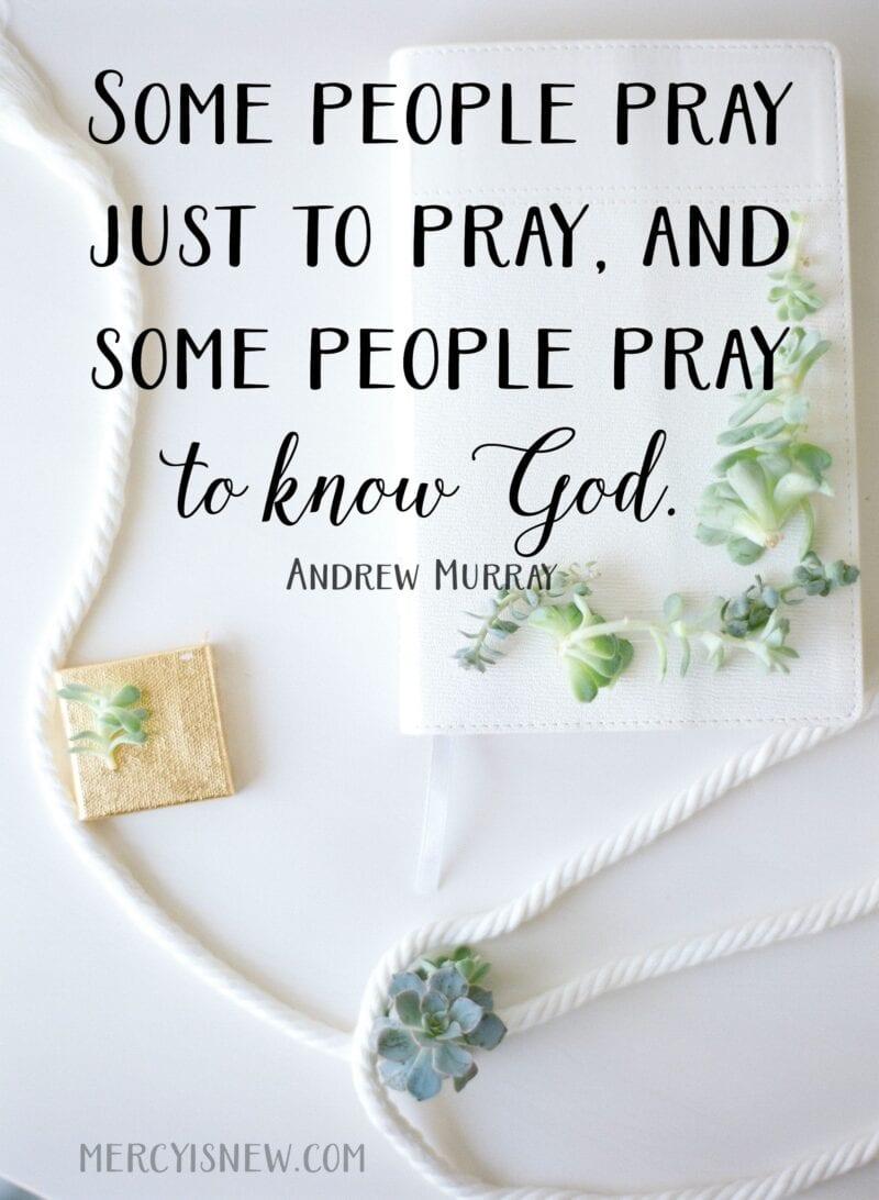 Some people pray just to pray