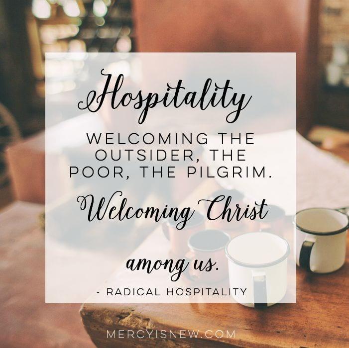 Welcoming Christ among us