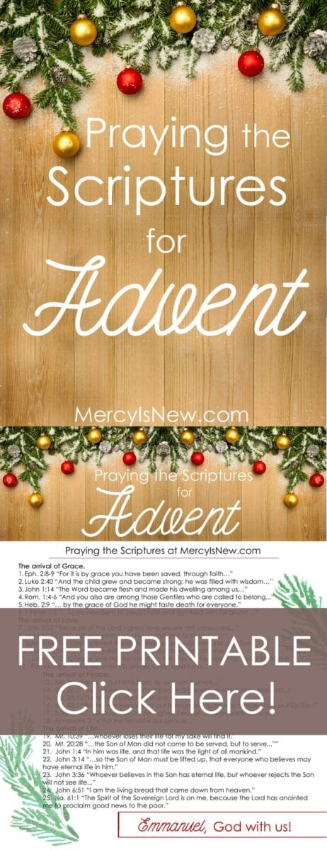 Praying the Scriptures for Advent