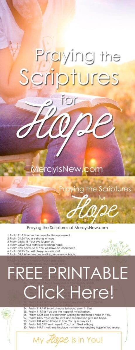 30 Verses to Pray When You Need Hope