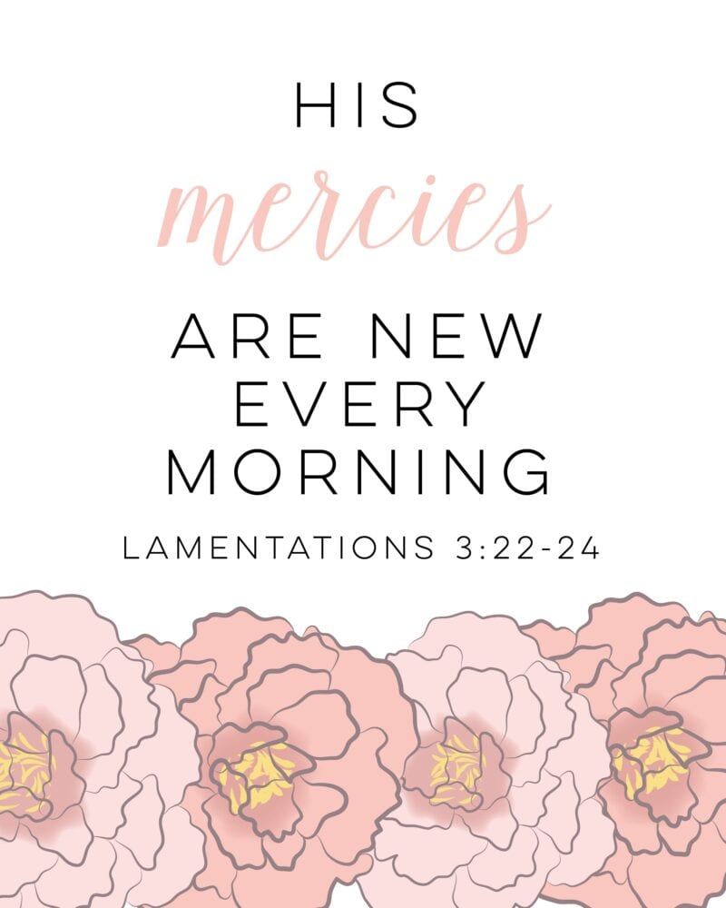 his mercies are new free printable