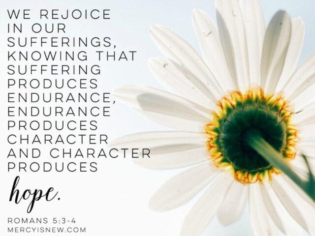 rejoice in sufferings
