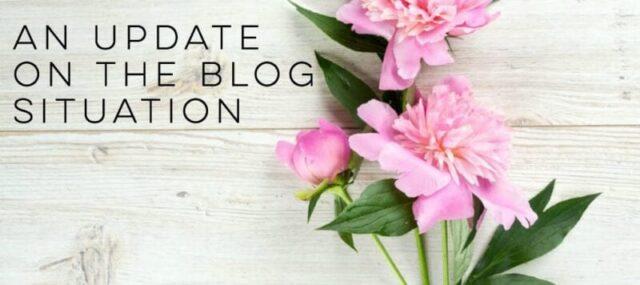 update on blog